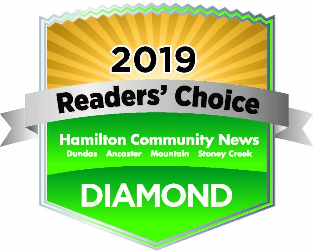 2019 Diamond Winner in the Hamilton News Readers' Choice award